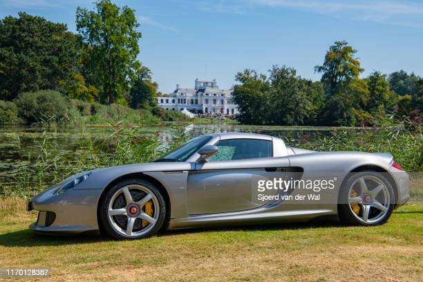 Porsche Carrera GT sports car on display at the 2019 Concours d'Elegance at palace Soestdijk on August 25 2019 in Baarn Netherlands This is the first...