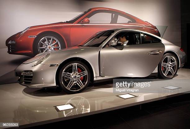 Porsche Carrera is displayed during Porsche's annual general meeting on January 29 2010 in Stuttgart Germany German luxury cars maker merging with...