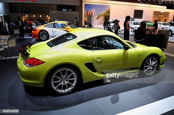Porsche Cayman R sports car at a motor show