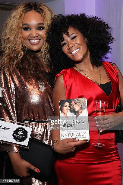 Porsche Cooper and Miko Branch attend Essence's Best in Black Beauty Awards sponsored by African Pride and Colgate Optic White on April 28 2015 in...