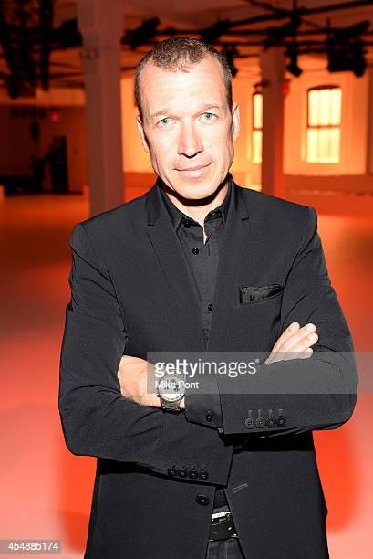 Porsche Design CEO Juergen Gessler the Porsche Design Spring/Summer 2015 fashion show during MercedesBenz Fashion Week Spring 2015 at Center548 on...