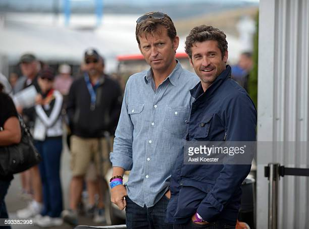 Porsche enthusiast Patrick Dempsey attends events during Monterey Auto Week where Porsche introduced the 918 Spyder Hybrid, offering invitation-only...