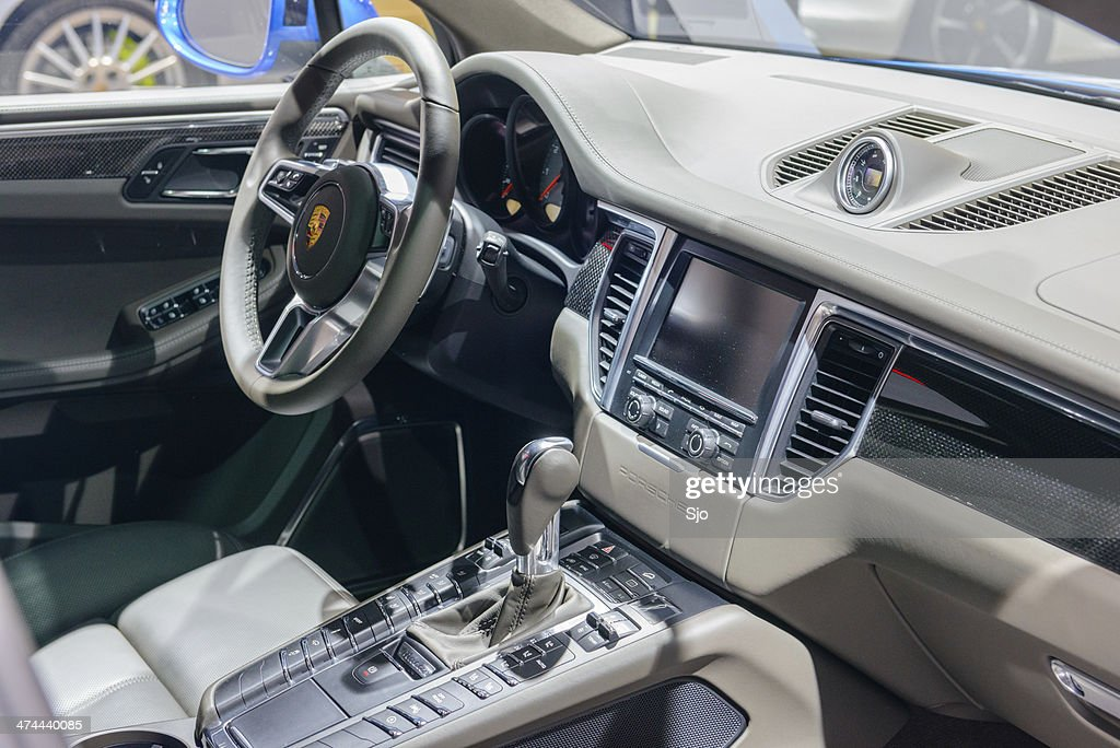 Porsche Macan Interior : Stock Photo