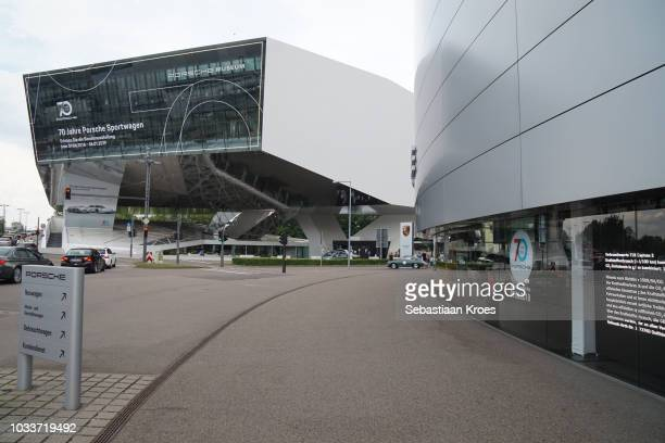 Porsche Musem and Dealership in Stuttgart, Germany