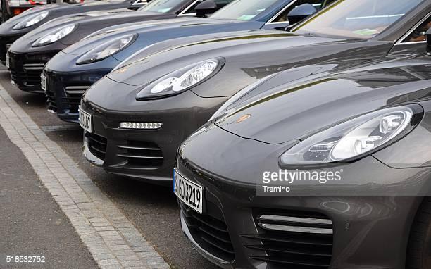 Porsche Panamera in a row