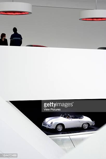 Porsche PlatzGermany Architect Stuttgart Porsche Museum Detail Of The Sound Pods And Car On Lower Gallery Floor