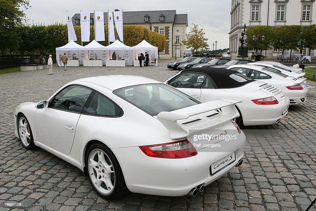 Porsche presents the new Porsche 911 Convertible at Grandhotel Schloss Bensberg on September 07 in Bergisch Gladbach, Germany.