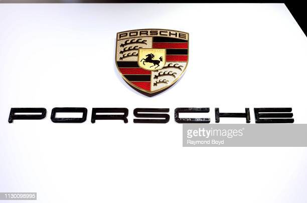 Porsche signage is on display at the 111th Annual Chicago Auto Show at McCormick Place in Chicago Illinois on February 7 2019