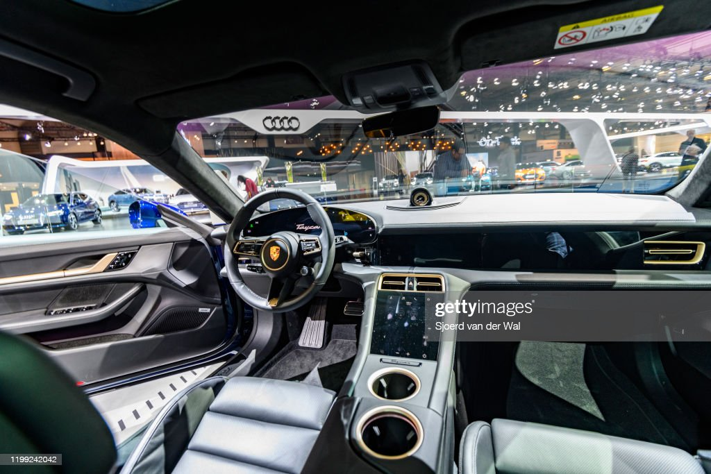 Porsche Taycan Turbo S All Electric Luxury Performance Car Interior News Photo Getty Images