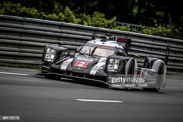 Porsche Team #2 Porsche 919 Hybrid with Drivers Romain Dumas Mark Lieb and Neel Jani during the 84th running of the Le Mans 24 Hours on June 16 2016...