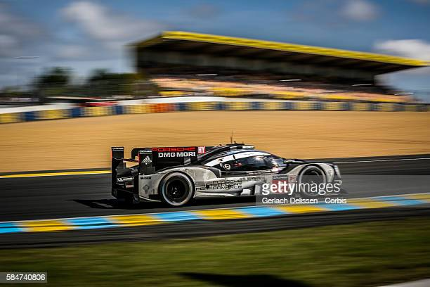 Porsche Team #2 Porsche 919 Hybrid with Drivers Romain Dumas Mark Lieb and Neel Jani during the 84th running of the Le Mans 24 Hours on June 19 2016...