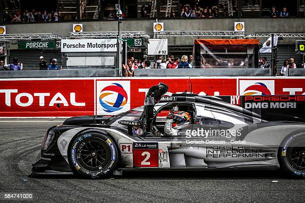 Porsche Team #2 Porsche 919 Hybrid with Drivers Romain Dumas Mark Lieb and Neel Jani WINS during the 84th running of the Le Mans 24 Hours on June 19...
