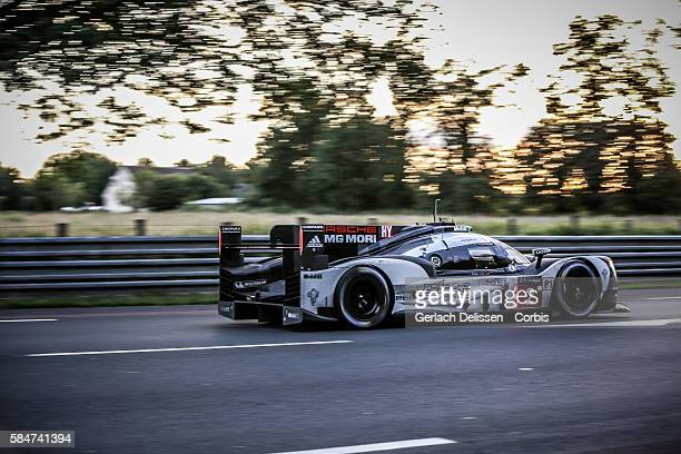 Porsche Team #2 Porsche 919 Hybrid with Drivers Romain Dumas Mark Lieb and Neel Jani during the 84th running of the Le Mans 24 Hours on June 18 2016...