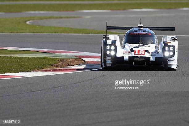 Porsche Team car driven by Romain Dumes of France, Neel Jani of Switzerland and Marc Lieb of Germany in action during the FIA World Endurance...