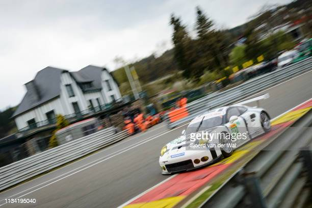 Porsche Team Manthey Porsche 911 RSR driven by Richard Lietz and Frédéric Makowiecki driving on track during the 6 Hours of SpaFrancorchamps race the...