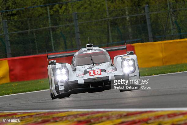 Porsche Team Porsche 919 Hybrid of Nico Hulkenberg / Earl Bamber / Nick Tandy in action during Round 2 of the 2015 FIA World Endurance Championship...
