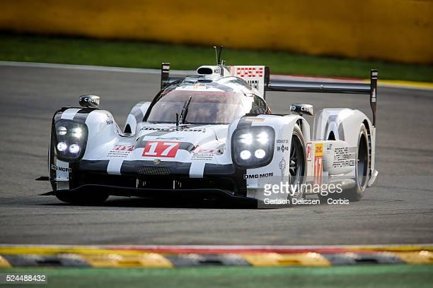 Porsche Team Porsche 919 Hybrid of Timo Bernhard / Mark Webber / Brendon Hartley in action during Round 2 of the 2015 FIA World Endurance...