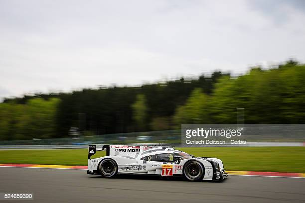 Porsche Team Porsche 919 Hybrid of Timo Bernhard / Mark Webber / Brendon Hartley in action during Round 2 of the 2015 FIA World Endurance...