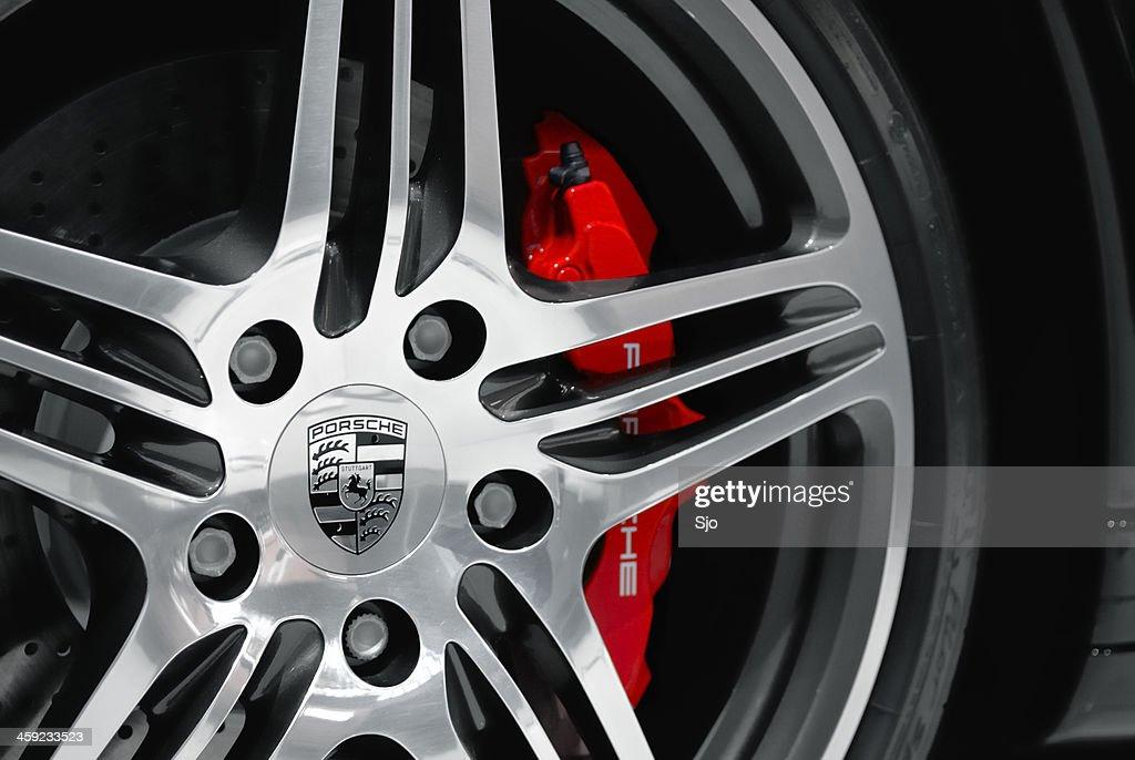 Porsche wheel : Stock Photo