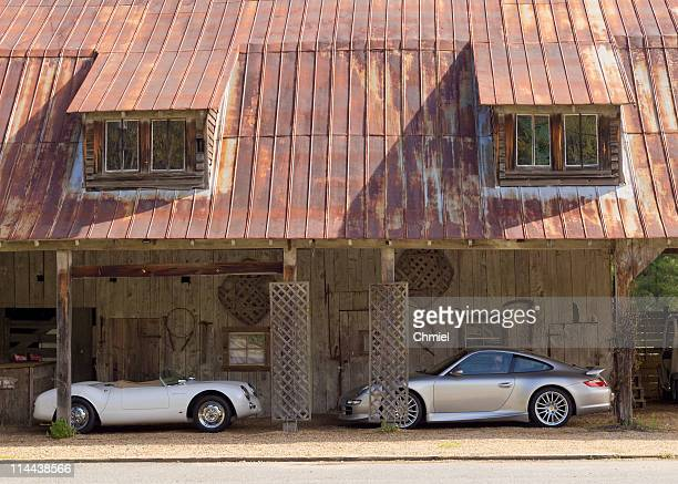 Porsches at the stable