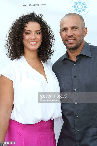 """Porschla Coleman and Jason Kidd attend the 1st Annual Compound Foundation """"Fostering A Legacy"""" Benefit on July 14, 2012 in East Hampton, New York."""