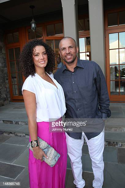Porschla Coleman and Jason Kidd attend the 2012 Compound Foundation Fostering A Legacy Benefit on July 14, 2012 in East Hampton, New York.