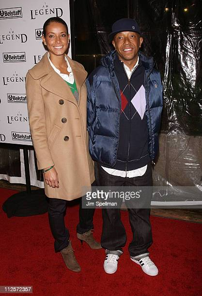 Porschla Coleman and Russell Simmons arrives at the I Am Legend New York Premiere at Theater at Madison Square Garden on December 11 2007 in New York...