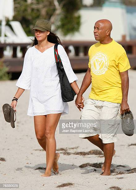 Porschla Coleman and Russell Simmons sighting on the beach on August 25, 2007 in Malibu,California