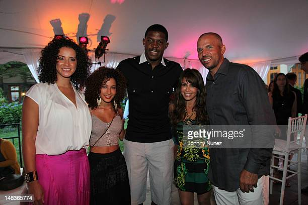 Porschla Coleman, guest, Joe Johnson, Paula Abdul and Jason Kidd attend the 2012 Compound Foundation Fostering A Legacy Benefit on July 14, 2012 in...