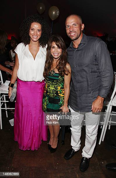 Porschla Coleman, Paula Abdul and Jason Kidd attend the 2012 Compound Foundation Fostering A Legacy Benefit on July 14, 2012 in East Hampton, New...