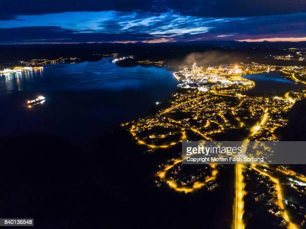 Porsgrunn at night