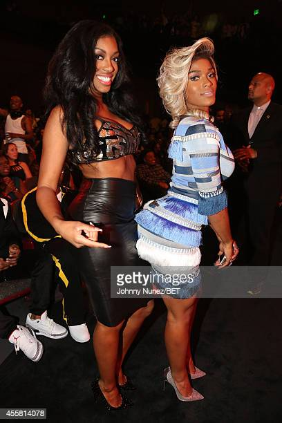 Porsha Williams and Joseline Hernandez the BET Hip Hop Awards 2014 at Boisfeuillet Jones Atlanta Civic Center on September 20 2014 in Atlanta Georgia