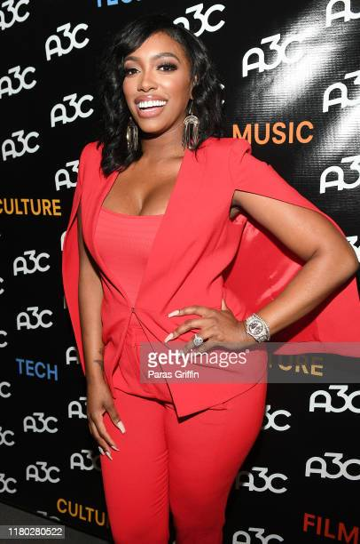 Porsha Williams attends the A3C Festival Conference at AmericasMart on October 10 2019 in Atlanta Georgia