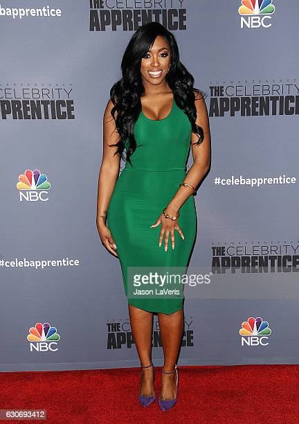 Porsha Williams attends the press junket For NBC's Celebrity Apprentice at The Fairmont Miramar Hotel Bungalows on January 28 2016 in Santa Monica...