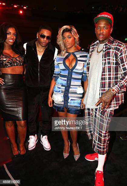Porsha Williams Nelly Joseline Hernandez and YG attend the BET Hip Hop Awards 2014 at Boisfeuillet Jones Atlanta Civic Center on September 20 2014 in...