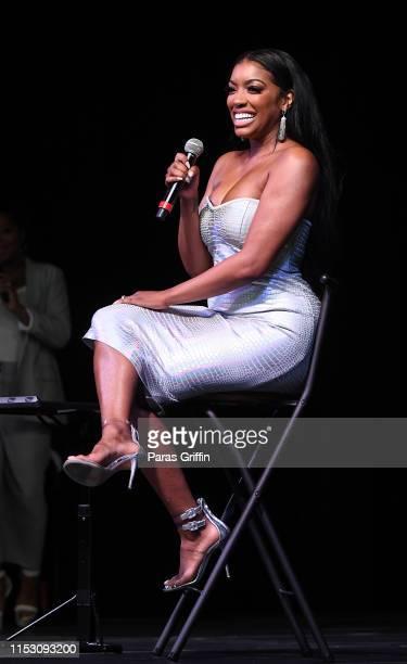 Porsha Williams speaks onstage during 2019 Atlanta Ultimate Women's Expo at Georgia World Congress Center on June 01 2019 in Atlanta Georgia
