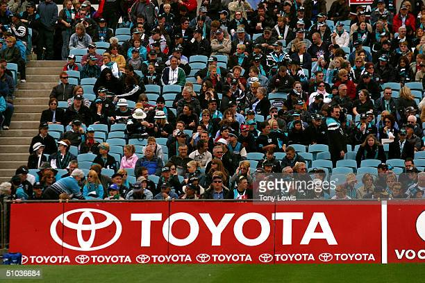 Port Adelaide crowd during the AFL round five match between Port Adelaide Power and the Western Bulldogs at AAMI Stadium on April 25 2004 in Adelaide...