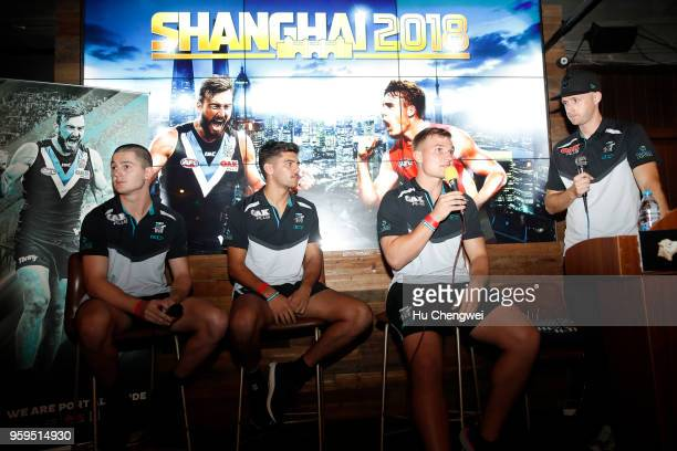Port Adelaide Power fans pose during an event for club members at The Camel on May 17 2018 in Shanghai China Port Adelaide play the Gold Coast Suns...