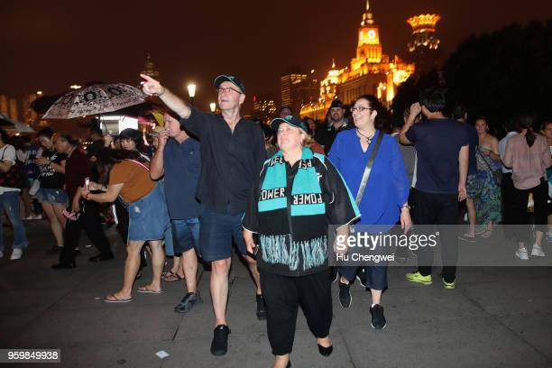 Port Adelaide Power fans pose during an event for club members at The Camel on May 18 2018 in Shanghai China Port Adelaide play the Gold Coast Suns...