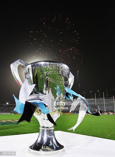 Port Adelaide's 2004 Premiership Cup is unveiled to the crowd before the round two AFL match between the Port Adelaide Power and the Brisbane Lions...