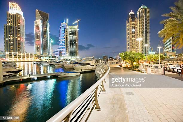 Port and Skyscrapers of Dubai Marina