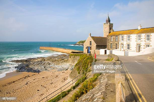Port and small seaside resort of Porthleven Cornwall England