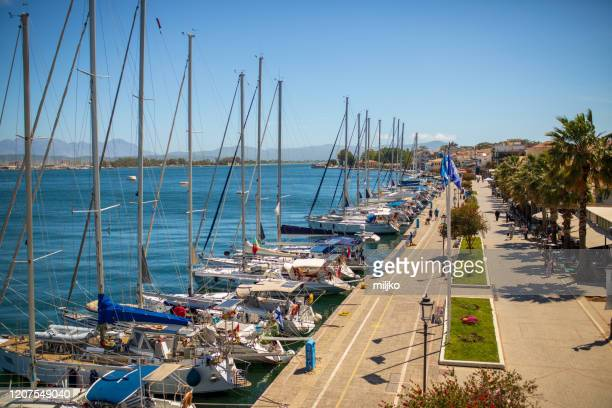 port and town preveza in greece - miljko stock pictures, royalty-free photos & images