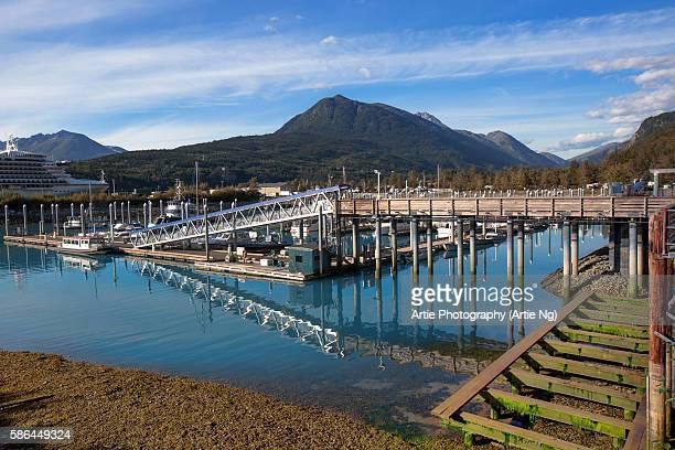 Port and Wharf of Skagway, Alaska, United States of America, North America