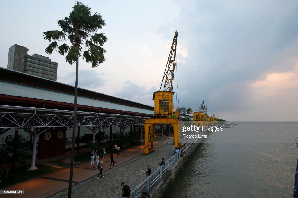 Port At Guajara Bay, Amazon Region, Brazil : Stock-Foto
