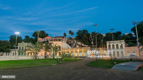 port at night - corumbá city - ponto turístico local stock pictures, royalty-free photos & images