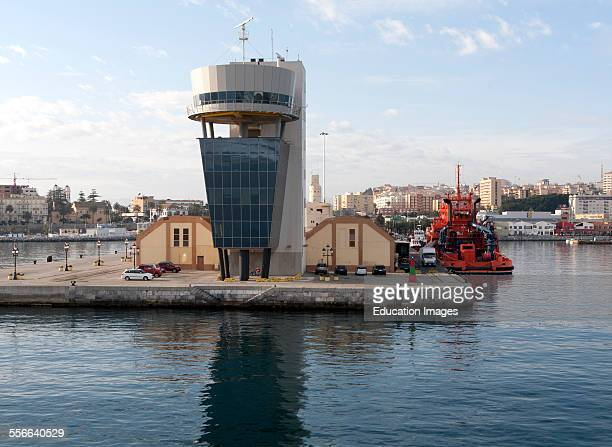 Port authority building at harbor entrance Ceuta Spanish territory in north Africa Spain