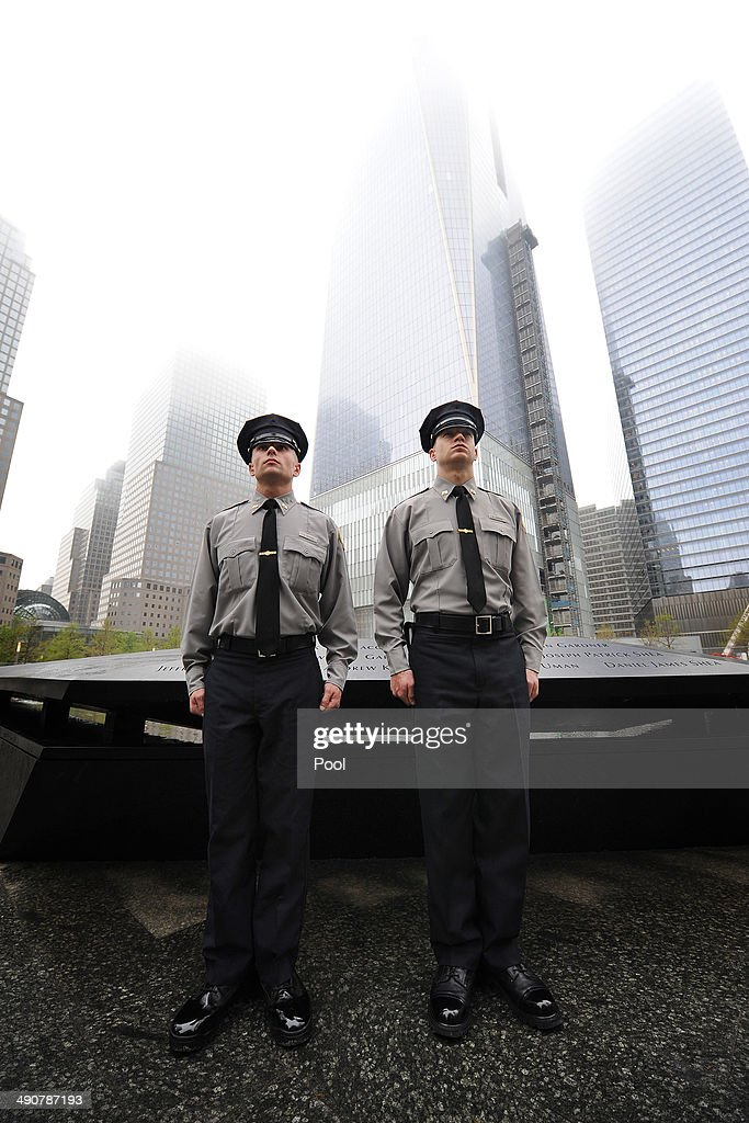Port Authority Police Academy stand by the North reflecting