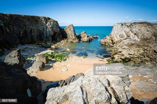 port bara, peninsula of quiberon, brittany, france - golfe du morbihan photos et images de collection