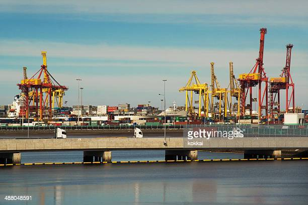 port botany - harbour stock pictures, royalty-free photos & images